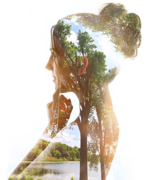Paysage dans la silhouette d'une femme I Ô Pays des Sens